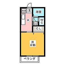 サンパークCERA A[2階]の間取り