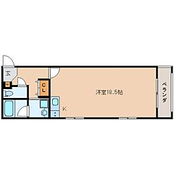 JR東海道本線 静岡駅 徒歩19分の賃貸マンション 1階ワンルームの間取り
