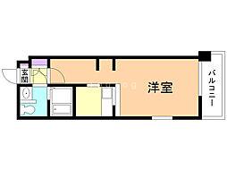 B-STAGE 4階1Kの間取り