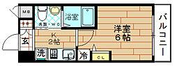 クリスタルグランツ大阪センター st[15階]の間取り