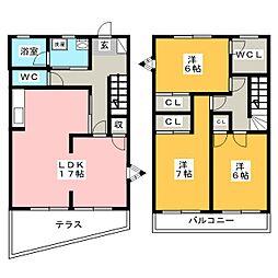 [テラスハウス] 福岡県太宰府市吉松2丁目 の賃貸【/】の間取り