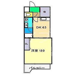 DRハウスII[6階]の間取り