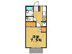 石山ハイツ[106号室号室]の間取り