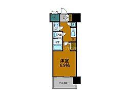JR大阪環状線 弁天町駅 徒歩8分の賃貸マンション 3階1Kの間取り