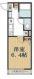 JR中央線 高円寺駅 徒歩11分の賃貸アパート 3階1Kの間取り