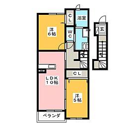 ソレイユM[2階]の間取り