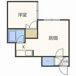 プレドニア24[1階]の間取り