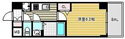 大阪府大阪市中央区道修町1丁目の賃貸マンションの間取り