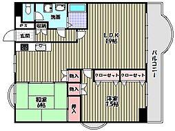 ガーデンハイム狭山B棟[5階]の間取り