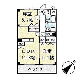 シリウスハイム 3階[302号室]の間取り