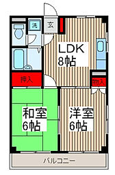 Fハウス[3階]の間取り