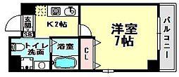 ラフォーレ松ヶ枝I[5階]の間取り