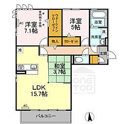 D-room新木曽川[3階]の間取り