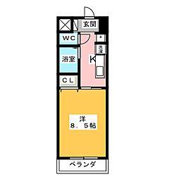 すまいるKATO 3階1Kの間取り