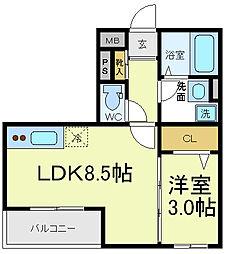 メゾンドアール[2階]の間取り
