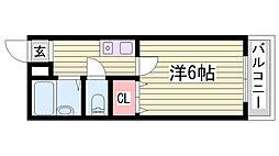 JR加古川線 社町駅 バス18分 依藤野駅下車 徒歩4分の賃貸マンション 1階1DKの間取り