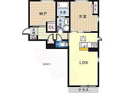 南海高野線 北野田駅 徒歩6分の賃貸マンション 3階1SLDKの間取り