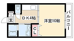 愛知県名古屋市名東区藤森2丁目の賃貸マンションの間取り