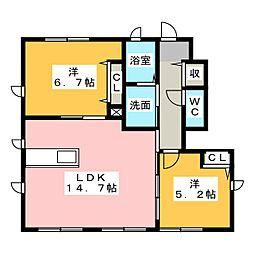 リバーサイド21 SINCE2010[1階]の間取り