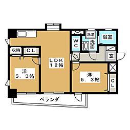 新栄Grand M[5階]の間取り