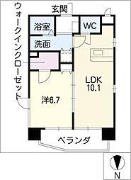 HARADA栄南ビル[5階]の間取り