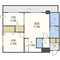 北海道札幌市豊平区豊平三条2丁目の賃貸マンションの間取り