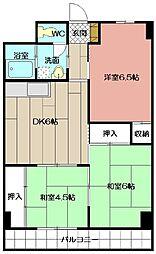 プレアール大田町[202号室]の間取り