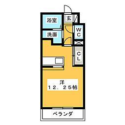 静岡県静岡市清水区折戸4丁目の賃貸マンションの間取り