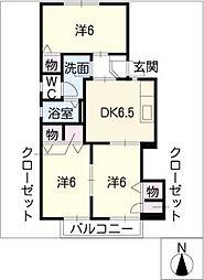 ハーモニー A棟[2階]の間取り