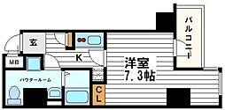大阪府大阪市中央区谷町3丁目の賃貸マンションの間取り