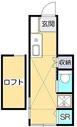 サークルハウス国分寺[1階]の間取り