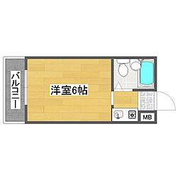 パークコート住之江[1階]の間取り