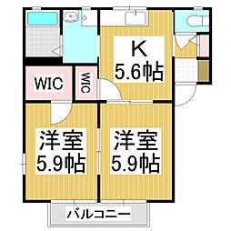 ヴィアーレ B棟[2階]の間取り