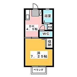 コーポ木崎[2階]の間取り