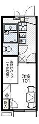 大阪モノレール彩都線 公園東口駅 徒歩16分の賃貸アパート 2階1Kの間取り