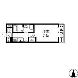 M'プラザ小阪駅前[604号室号室]の間取り