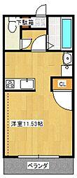 メゾン・ド・U 3階ワンルームの間取り