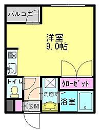 ソフィア21新在家[103号室]の間取り