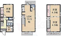 菩提町貸家 3階3LDKの間取り