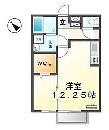 愛知県清須市花水木1丁目の賃貸アパートの間取り