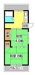 所沢サンハイム[2階]の間取り