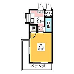 ハイツ三浦[4階]の間取り