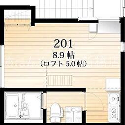 AZEST-RENT高砂[2階]の間取り