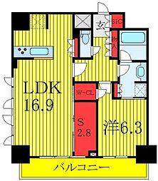 JR埼京線 板橋駅 徒歩6分の賃貸マンション 14階1SLDKの間取り