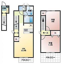 セレーサ トーレ[2階]の間取り