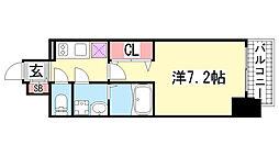 兵庫県神戸市中央区御幸通2丁目の賃貸マンションの間取り