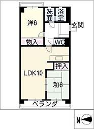 トーク・21[4階]の間取り