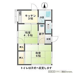 タイシン荘[2階]の間取り