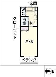 エクセランス御供所II[2階]の間取り