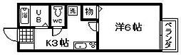 プリシェール味園2[1階]の間取り